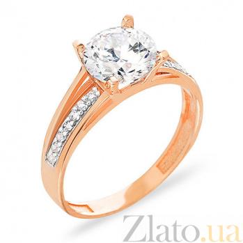 Золотое кольцо с цирконием Кирстен SUF--153147
