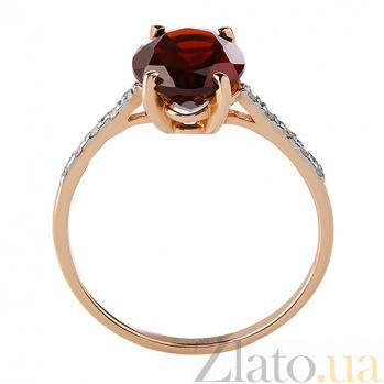 Кольцо из красного золота с гранатом и бриллиантами Сандра TRF--1121531н/гранат