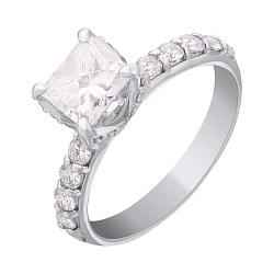 Золотое кольцо с бриллиантом 000012543