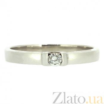 Кольцо из белого золота с бриллиантом Мейт 000021441