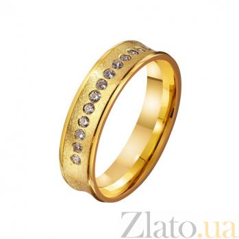 Золотое обручальное кольцо с фианитами  Джуди TRF--4121669
