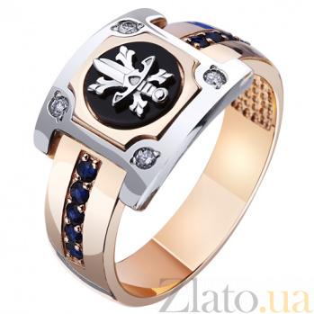 Золотая печатка с сапфирами и бриллиантами Щит и Меч AUR--31401 48