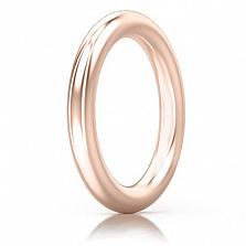 Мужское обручальное кольцо из розового золота Мой милый ангел: Безграничная Любовь