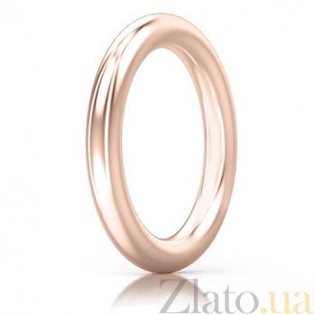 Мужское обручальное кольцо из розового золота Мой милый ангел: Безграничная Любовь 4127