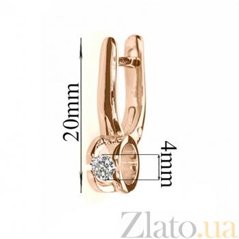 Серьги из красного золота Идиллия с бриллиантами E 0527/крас