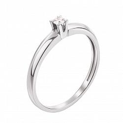 Кольцо в белом золоте Прекрасное утро с бриллиантом