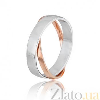 Серебряное кольцо с позолотой Стильный дуэт 000028030