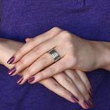 Серебряное черненое кольцо с молитвой Отче Наш