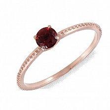 Кольцо из красного золота с гранатом Аманда