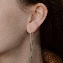 Серебряные серьги-протяжки Римма