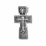 Серебряный крест с чернением Воскрешение