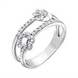 Серебряное кольцо с фианитами 000096353