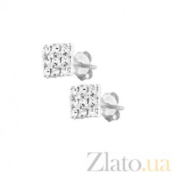 Серебряные сережки Аурелия SLX--С1СТ/623