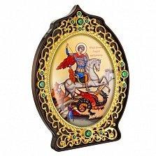 Икона латунная с позолотой Святой Георгий Победоносец