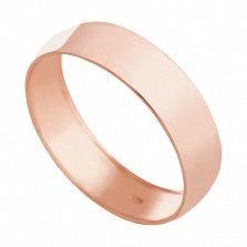 Обручальное кольцо из красного золота Вечная классика