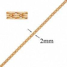 Золотая цепочка Версаль, 2мм
