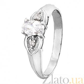 Кольцо из серебра с фианитами Лили 000025766