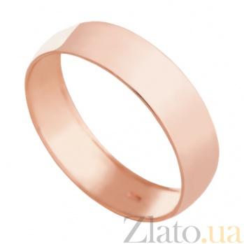 Обручальное кольцо из красного золота Вечная классика VLN--318-1151