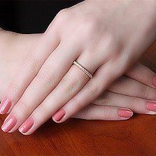 Кольцо из красного золота Энид с бриллиантами