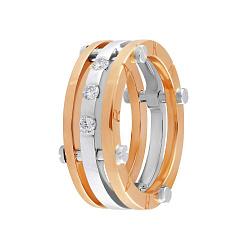 Обручальное золотое кольцо Аурелия в комбинированном цвете с бриллиантами в стиле Барака