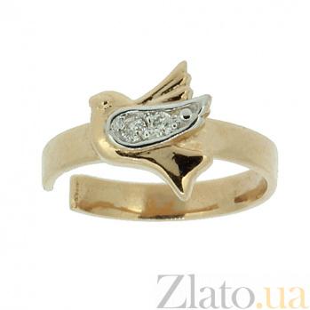 Серьга-кафф Птица из красного золота с бриллиантами  ZMX--ED-5618_K
