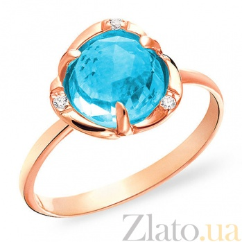 Золотое кольцо Феерия с топазом и цирконием SUF--152025Т