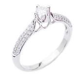 Золотое кольцо с бриллиантами Душевное тепло