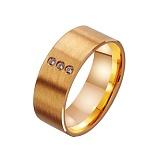 Золотое обручальное кольцо Супружеское счастье с фианитами