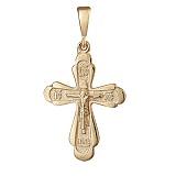 Серебряный крестик Благодатный с позолотой