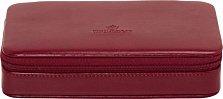 Красная шкатулка для украшений WindRose Merino на молнии с 8 квадратными отделениями