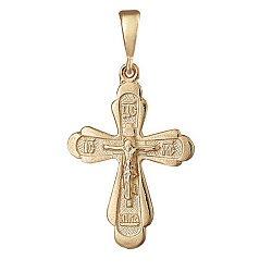 Серебряный крестик с желтой позолотой 000039693
