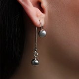 Серебряные серьги Эмбер