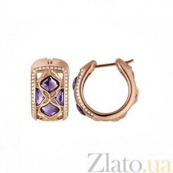 Серьги из розового золота с 8 аметистами и бриллиантами Imperiale E-Ch(d)-IMP-R-ametyst(8)-