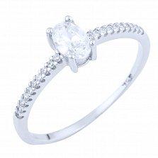 Серебряное кольцо Адель с фианитами