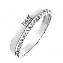 Серебряное кольцо Шантри с фианитами