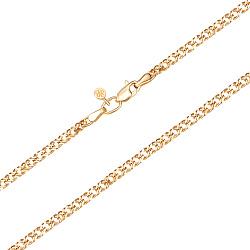 Цепь из желтого золота в плетении двойной ромб с алмазной гранью 000134032