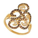Золотое кольцо с фианитами Актриса