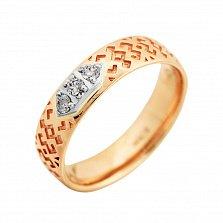 Золотое кольцо с бриллиантами Мантра любви