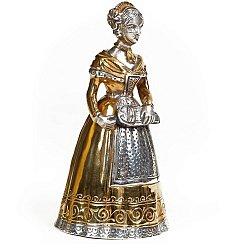 Серебряный колокольчик Девушка с шарманкой