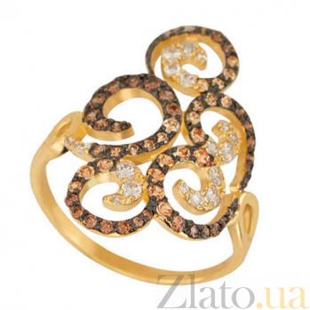Золотое кольцо с фианитами Актриса VLT--ТТТ1174
