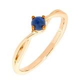 Золотое кольцо Мия с сапфиром