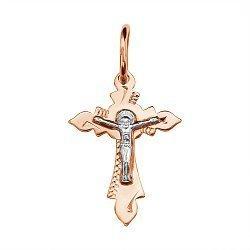 Золотой крестик Свет жизни с насечкой 000046376
