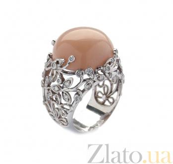 Золотое кольцо с бриллиантами и розовым опалом Porcelain ZMX--RDOp-0031w