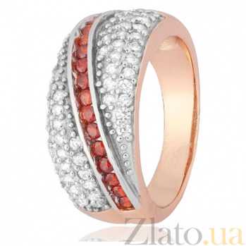 Кольцо из серебра с фианитами Малика 000028206