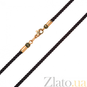 Шёлковый шнурок с золотым замком Жгут 000015044