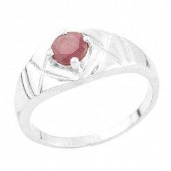 Серебряное кольцо Бриджит с рубином