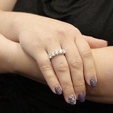 Кольцо из белого золота Велари с кристаллами Swarovski