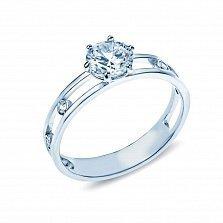 Серебряное кольцо с фианитами Луиса