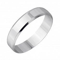 Серебряное обручальное кольцо Классика любви с родиевым покрытием