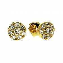 Серьги из желтого золота Элси с бриллиантами